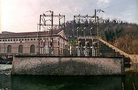 La centrale idroelettrica Edison Bertini di Porto d'Adda, in Brianza --- The hydroelectric power plant Edison Bertini of Porto d'Adda, in Brianza