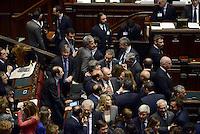 Roma, 18 Aprile 2013.Camera dei Deputati.Votazione del Presidente della Repubblica a camere riunite.Deputati e Senatori del PDL