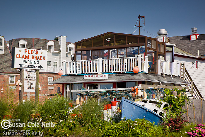 Flo's Clam Shack in Middletown, Narragansett Bay, RI, USA