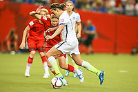 MONTREAL, CANADA, 30.06.2015 - EUA-ALEMANHA - Carli Llyod dos Estados Unidos durante partida contra Alemanha, válida pelas semi-finais da Copa do Mundo de Futebol Feminino, no Estádio Olímpico de Montreal, no Canadá, nesta sexta-feira, 30. (Foto: William Volcov/Brazil Photo Press)