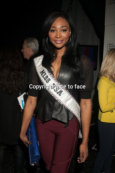 Miss USA Nana Meriwether attending the BCBGMAXAZRIA fashion Show during Fall 2013 Mercedes-Benz Fashion Week at Theatre at Lincoln Center on February 7, 2013 in New York City. ..Credit: MediaPunch/face to face..- Germany, Austria, Switzerland, Eastern Europe, Australia, UK, USA, Taiwan, Singapore, China, Malaysia and Thailand rights only -