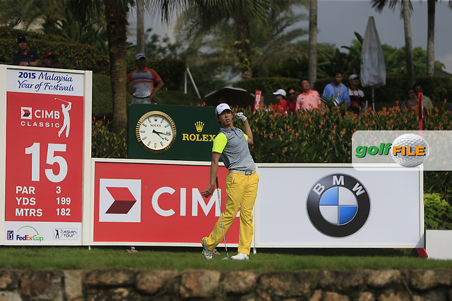 Seung-Yul Noh (KOR) on the 15th tee during Round 3 of the CIMB Classic in the Kuala Lumpur Golf &amp; Country Club on Saturday 1st November 2014.<br /> Picture:  Thos Caffrey / www.golffile.ie