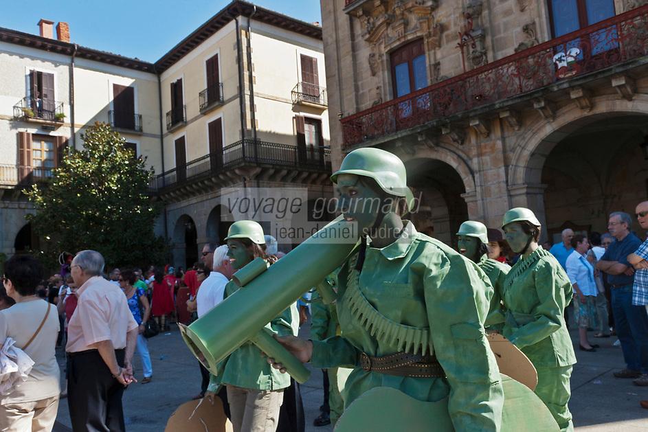 Europe/Espagne/Pays Basque/Guipuscoa/Goierri/Onati: Lors de la fête du village