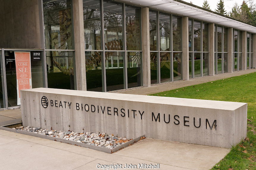 Beaty Biodiversity Museum building on the campus of the University of British Columbia, Vancouver, Canada