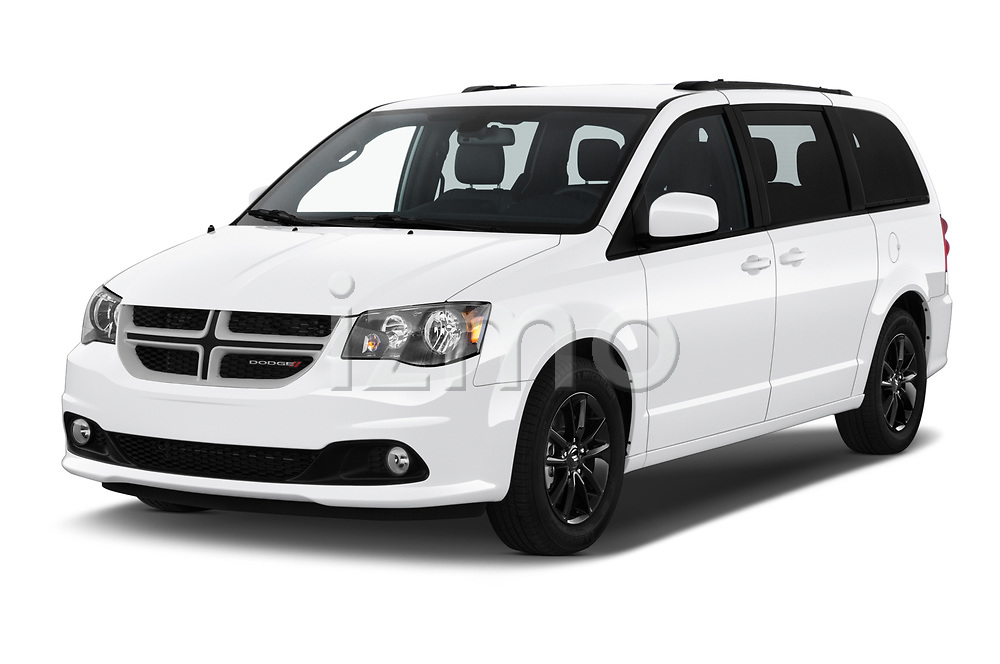 2019 Dodge Grand-Caravan GT 5 Door Minivan Angular Front automotive stock photos of front three quarter view