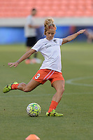 Rachel Daly (3) of the Houston Dash warming up prior to their game with the Orlando Pride on Friday, May 20, 2016 at BBVA Compass Stadium in Houston Texas. The Orlando Pride defeated the Houston Dash 1-0.