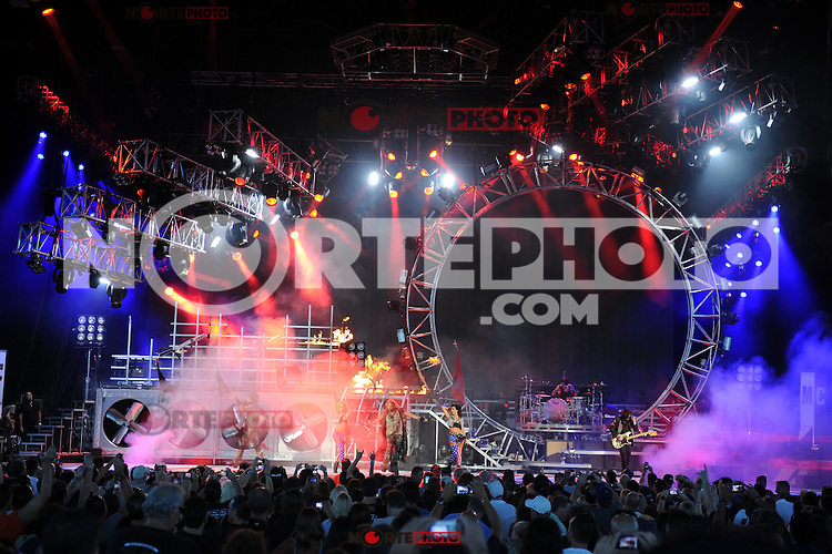 ALBUQUERQUE NM - AUGUST 7:  Vince Neil, Nikki Sixx, Mick Mars and Tommy Lee of Motley Crue perform at the Hard Rock Casino Albuquerque on August 7, 2012 in Albuquerque, New Mexico. Credit: MediaPunch Inc.
