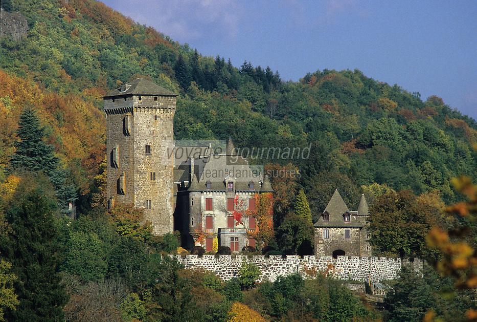 France/15/Cantal/Polminhac: Château de Pesteils