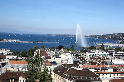 Genève, le 19.09.2010.Vue de genève depuis la cathédrale Saint Pierre..© Jean-Patrick Di Silvestro / Le Courrier