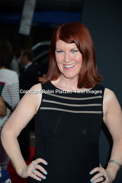 """Kate Flannery attends the New York Premiere of """"The Heat"""" on June 23,2013 at the Ziegfeld Theatre in New York City. The movie stars Sandra Bullock, Melissa McCarthy, Demian Bichir, Marlon Wayans, Joey McIntyre, Jessica Chaffin, Jamie Denbo, Nate Corddry, Steve Bannos, Spoken Reasons and Adam Ray."""