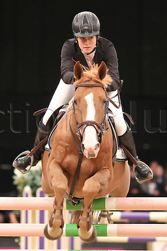 10.10.2010 The Horse of the Year Show from the NEC in Birmingham. HOYS leading Showjumper of the year. Winner Laura Renwick riding Oz DE Breve