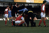 22/11/80 Blackpool v Fleetwood Town FAC 1.Fleetwood 6 receives treatment.©  Phill Heywood