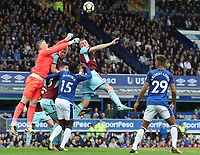 Burnley's Chris Wood has an attempt at goal<br /> <br /> Photographer Rachel Holborn/CameraSport<br /> <br /> The Premier League - Everton v Burnley - Sunday 1st October 2017 - Goodison Park - Liverpool<br /> <br /> World Copyright &copy; 2017 CameraSport. All rights reserved. 43 Linden Ave. Countesthorpe. Leicester. England. LE8 5PG - Tel: +44 (0) 116 277 4147 - admin@camerasport.com - www.camerasport.com