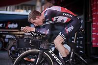 Bauke Mollema  (NED/Trek-Segafredo) warming up<br /> <br /> Stage 1 (ITT): Bologna to Bologna/San Luca (8.2km)<br /> 102nd Giro d'Italia 2019<br /> <br /> ©kramon