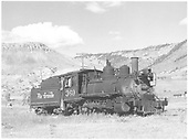 3/4 engineer's-side view of D&amp;RGW #360 at Sapinero, CO.<br /> D&amp;RGW  Sapinero, CO  Taken by Richardson, Robert W. - 9/19/1948