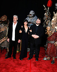 """Actor Ron Perlman, Actress Selma Blair, Writer/Director Guillermo del Toro (L-R) and Creatures arrive at the 2008 Los Angeles Film Festival's """"HellBoy: II The Golden Army"""" Premiere at the Mann Village Westwood Theater on June 28, 2008 in Westwood, California."""