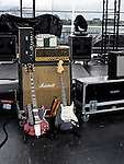 Backstage at the 2012 Forecastle Festival in Louisville, Kentucky.