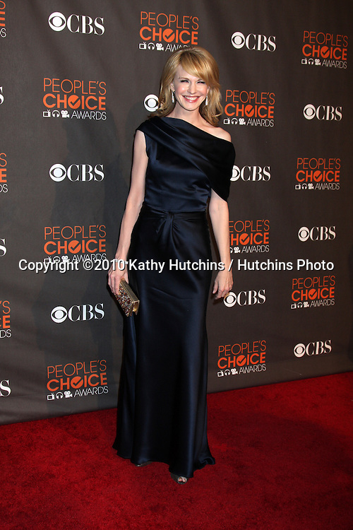 Kathryn Morris.arriving  at the 2010 People's Choice Awards.Nokia Theater.January 6, 2010.©2010 Kathy Hutchins / Hutchins Photo.