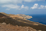 The scenic drive to  Balos Beach on the Gramvousa Peninsula, Crete, Greece