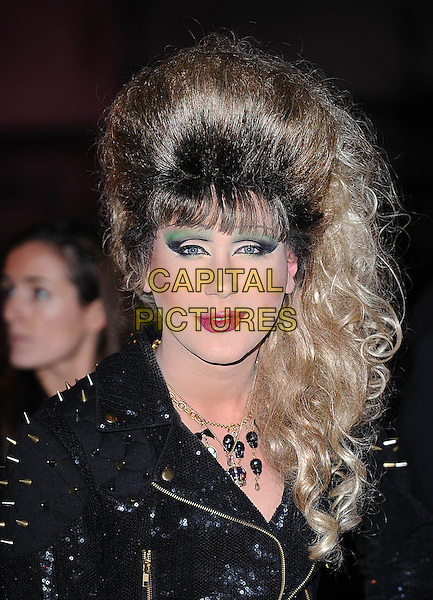 JODIE HARSH.attending The British Fashion Awards, Royal Courts of Justice, London, England, UK, 9th December 2009..arrivals portrait headshot wig make-up green eyeshadow hair drag queen black leather studs studded .CAP/BEL.©Tom Belcher/Capital Pictures.