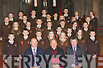 Pupils from Lissivigeen NS who were confirmed in St Mary's Cathedral, Killarney on Friday front row l-r: John O'Donoghue, Bishop Bill Murphy and Mike McAulliffe Principal. Second row: Ryan O'Keeffe, Stephen Kelliher, Aaron Cahill, Jade Whooley, Hannah McAulliffe, Laura Quinlivan, Cieran Cronin. Third row: Christine McKenna, Sylvie Bartlett, Fergal Clifford, Nicole Moriarty, Gerard Murphy, Robert Cousin, Eoghan Kennedy, Emer Courtney, Kayleigh Cronin. Forth row: Ross O'Sullivan, Lisa Brennan, Liam Kearney, Liam O'Callaghan, Timmy Hussey, Corey Doyle, Aidan Sheppard, Naomi Farrell, Liobha?n O'Callaghan, Aaron Jones, Niamh Kearney, Rona?n Quill, Sean Horgan and Niamh Hickey