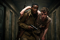 Overlord (2018)<br /> Jovan Adepo as Boyce, Dominic Applewhite as Rosenfeld<br /> *Filmstill - Editorial Use Only*<br /> CAP/MFS<br /> Image supplied by Capital Pictures