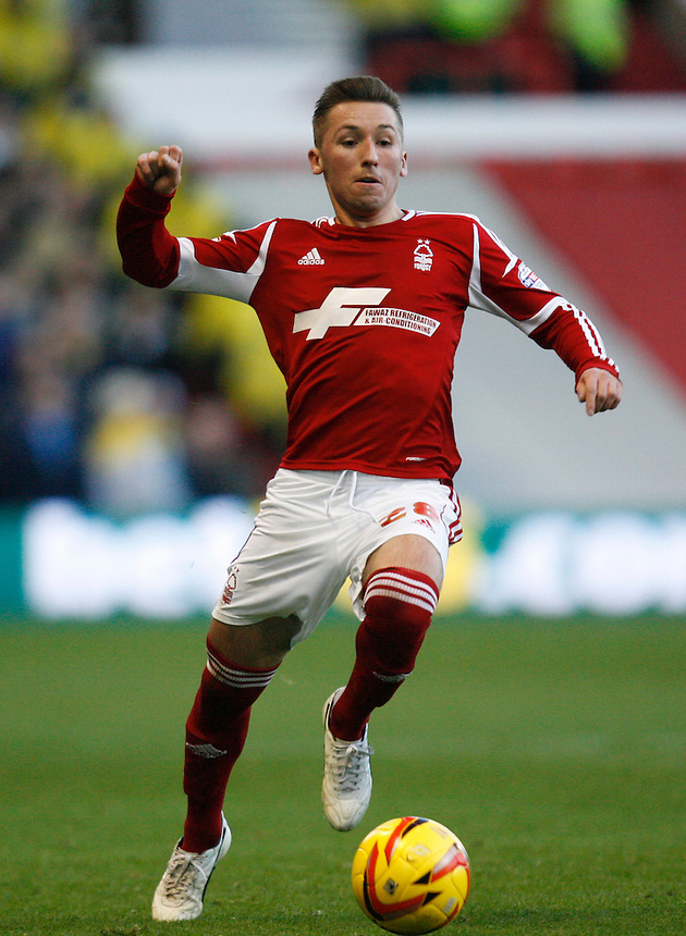 Nottingham Forest's Radoslaw Majewski in action during todays match  <br /> <br /> Photo by Jack Phillips/CameraSport<br /> <br /> Football - The Football League Sky Bet Championship - Nottingham Forest v Leeds United - Sunday 29th December 2013 - The City Ground - Nottingham<br /> <br /> &copy; CameraSport - 43 Linden Ave. Countesthorpe. Leicester. England. LE8 5PG - Tel: +44 (0) 116 277 4147 - admin@camerasport.com - www.camerasport.com