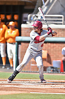 South Carolina Gamecocks first baseman Matt Williams (48) awaits a pitch during a game against the Tennessee Volunteers at Lindsey Nelson Stadium on March 18, 2017 in Knoxville, Tennessee. The Gamecocks defeated Volunteers 6-5. (Tony Farlow/Four Seam Images)