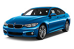 2018 BMW 4 Series Gran Coupe 440i M Sport 5 Door Hatchback angular front stock photos of front three quarter view