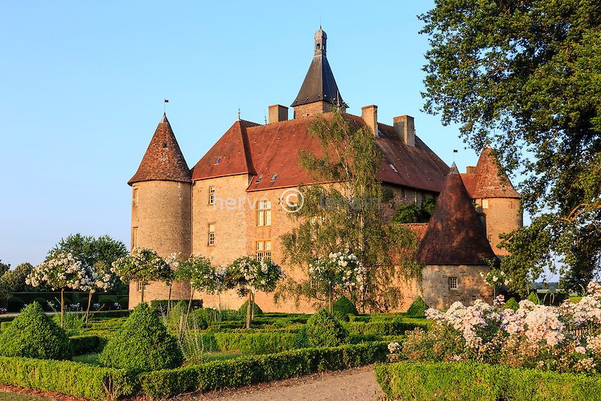 France, Allier (03), Saint-Pourçain-sur-Besbre, château de Beauvoir // France, Allier, Saint Pourcain sur Besbre, Beauvoir castle