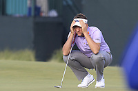 Ian Poulter (ENG) on the 8th green during Friday's Round 2 of the 118th U.S. Open Championship 2018, held at Shinnecock Hills Club, Southampton, New Jersey, USA. 15th June 2018.<br /> Picture: Eoin Clarke | Golffile<br /> <br /> <br /> All photos usage must carry mandatory copyright credit (&copy; Golffile | Eoin Clarke)