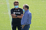 Getafe's coach Jose Bordalas with the President Angel Torres during training session. August 3,2020.(ALTERPHOTOS/Acero)