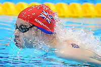 PICTURE BY ALEX BROADWAY /SWPIX.COM - 2012 London Paralympic Games - Day Five - Swimming, Aquatic Centre, Olympic Park, London, England - 03/09/12 - Sascha Kindred of Great Britain competes in the Men's 200m Individual Medley SM6 Heats.