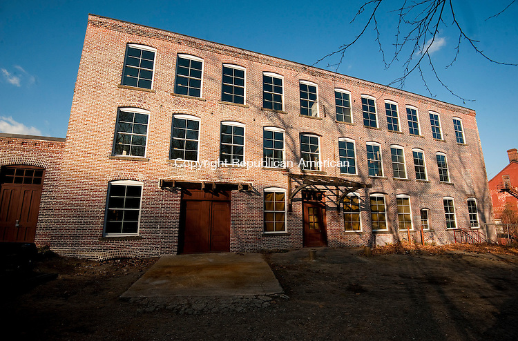 WINSTED,  CT-111716JS14-  The proposed Mad River Lofts will be built inside the budiling that once housed the Winsted Furniture and New England Knitting Factory on Bridge Street in Winsted. <br /> Jim Shannon Republican American