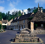 A01XE4 Market cross square Castle Combe Wiltshire England
