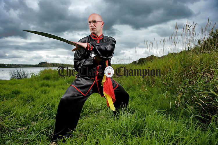 Kevin Copeland, a native of Scotland now living in Kilmihil, who is organizing a Tai Chi festival for this Saturday September 3rd at The West County Hotel, Ennis. Photograph by John Kelly.