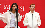 LOS ANGELES, CA. - May 09: Jordana Brewster and Marcia Cross attend the 16th Annual EIF Revlon Run/Walk For Women at the Los Angeles Memorial Coliseum on May 9, 2009 in Los Angeles, California.