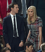 Jared Kushner and Ivanka Trump in the gallery as United States President Donald J. Trump delivers his first State of the Union address to a joint session of the US Congress in the US House chamber in the US Capitol in Washington, DC on Tuesday, January 30, 2018.<br /> Credit: Ron Sachs / CNP<br /> (RESTRICTION: NO New York or New Jersey Newspapers or newspapers within a 75 mile radius of New York City)