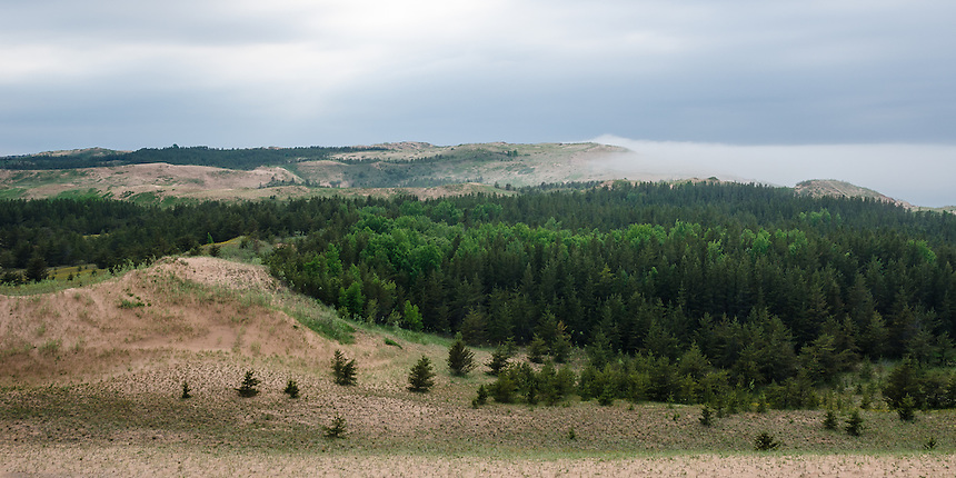 Lake Superior fog beginning to roll in at the Grand Sable Dunes. Grand Marais, MI