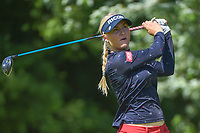 Charley Hull (ENG) watches her tee shot on 15 during round 2 of the 2018 KPMG Women's PGA Championship, Kemper Lakes Golf Club, at Kildeer, Illinois, USA. 6/29/2018.<br /> Picture: Golffile | Ken Murray<br /> <br /> All photo usage must carry mandatory copyright credit (&copy; Golffile | Ken Murray)