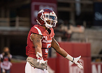 Hawgs Illustrated/BEN GOFF <br /> Henre' Toliver, Arkansas cornerback, pleads with an official after a Missouri touchdown in the fourth quarter Friday, Nov. 24, 2017, at Reynolds Razorback Stadium in Fayetteville.