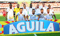 CALI - COLOMBIA -04-02-2017: Los jugadores de Rionegro Aguilas, posan para una foto, durante partido America de Cali y Rionegro Aguilas, por la fecha 1 de la Liga Aguila I 2017 jugado en el estadio Pascual Guerrero de la ciudad de Cali. / The players of Rionegro Aguilas, pose for a photo, during a match between America de Cali and Rionegro Aguilas, for the date 1 of the Liga Aguila I 2017 at the Pascual Guerrero stadium in Cali city. Photo: VizzorImage / Nelson Rios / Cont.
