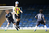 Connor Hall, Harrogate Town, heads forward during Southend United vs Harrogate Town, Sky Bet EFL League 2 Football at Roots Hall on 12th September 2020