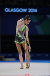Glasgow 2014 Commonwealth Games<br /> <br /> Laura Halford (Wales) competing in the women's Individual Rhythmic Gymnastics Final.<br /> <br /> 25.07.14<br /> &copy;Steve Pope-SPORTINGWALES