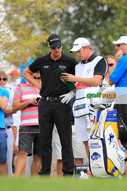 Henrik STENSON (SWE) during round 4 of the season ending DP World, Tour Championship, Dubai, UAE.<br /> Picture: Fran Caffrey www.golffile.ie