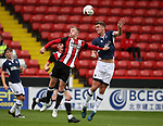 Jordan Hallam of Sheffield Utd and Paul Rooney of Millwall during the U23 Professional Development League Two match at Bramall Lane Stadium, Sheffield. Picture date 18th August 2017. Picture credit should read: Simon Bellis/Sportimage
