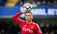 Jose Holebas of Watford during the Premier League match between Chelsea and Watford at Stamford Bridge, London, England on 21 October 2017. Photo by Andy Rowland.