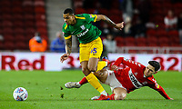 Preston North End's Lukas Nmecha gets away from Middlesbrough's Mo Besic<br /> <br /> Photographer Alex Dodd/CameraSport<br /> <br /> The EFL Sky Bet Championship - Middlesbrough v Preston North End - Wednesday 13th March 2019 - Riverside Stadium - Middlesbrough<br /> <br /> World Copyright &copy; 2019 CameraSport. All rights reserved. 43 Linden Ave. Countesthorpe. Leicester. England. LE8 5PG - Tel: +44 (0) 116 277 4147 - admin@camerasport.com - www.camerasport.com