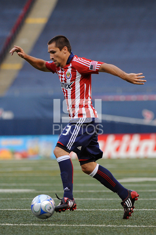 Bojan Stepanovic (23) of Chivas USA. Chivas USA defeated the New York Red Bulls 2-0 during a Major League Soccer match at Giants Stadium in East Rutherford, NJ, on August 15, 2009.