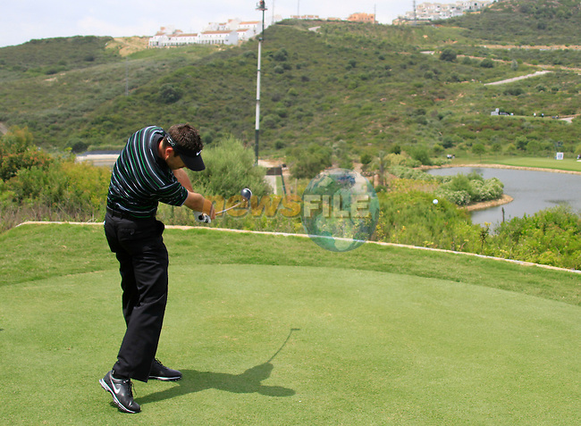 Charl Schwartzel (RSA) teeing off on the par3 4th tee during Day 1 of the Volvo World Match Play Championship in Finca Cortesin, Casares, Spain, 19th May 2011. (Photo Eoin Clarke/Golffile 2011)